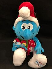 "2010 Macy's Holiday The Smurfs 21"" Plush Christmas Smurf NWT Stuffed Puppets"