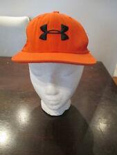 Under Armour Snapback Hat Orange Youth Baseball Cap Heat Gear