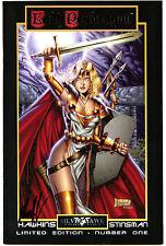 Lady Pendragon Vol. 2 Preview #1 (1998) Silver Hawk VF/VF- Signed Matt Hawkins