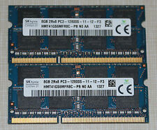 hynix 16GB (2X8GB) PC3-12800 DDR3 1600MHz SODIMM LAPTOP MEMORY