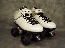Roller Skates Riedell Carrera White Boot Style #2 Size 6. Sure Grip Plate #4