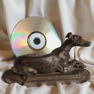 Antique 1880 's Silver Dog Greyhound Pedigree Pet Statue Sculpture Figure Vienna