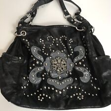 Kathy Van Zeeland Vegan Black Suede Shoulder Bag Purse    FF