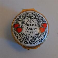 "Halcyon Days Enamels ""From One Who Loves You"" Valentine's 1978 Trinket Box"