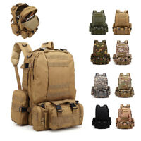 55L Outdoor Military Tactical Camping Hiking Trekking Backpack