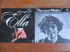 ELLA FITZGERALD Fine and Mellow & THE INCOMPARABLE ELLA 2x VINYL LP EX