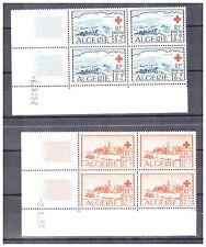 Algerie. N° 300/301. Blocks of 4 Coin Dates New .superbe