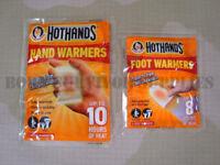 NEW HOTHANDS HAND & FOOT WARMERS - Disposable Pocket Glove Feet Warmer Heat Pack