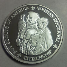 Norman Rockwell Boy Scouts of America Citinzenship 2 oz .999 Silver Utah Medal