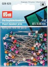 Prym Glaskopfstecknadeln  0,80x48 mm silberfarbig weiß 30 g Stecknadeln  029255