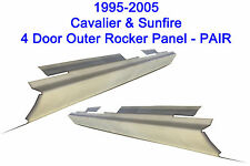 1995-2005 CHEVY CAVALIER PONTIAC SUNFIRE 4DR OUTER ROCKER PANELS NEW PAIR!!