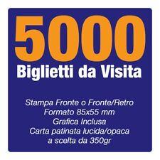 5000 Biglietti da Visita carta pat350gr Fronte Retro SPEDIZIONE INCLUSA