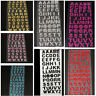 GN- 4X GLITTER CRYSTALS ALPHABET LETTER STICKER ADHESIVE A-Z WORDS DECOR COMELY