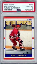 1990/91 Score Hockey - Eric Lindros RC - PSA 8! - #440 - Future Superstar!