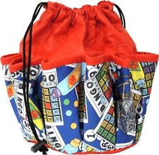 10 POCKET BINGO BAG WITH BINGO CARD PRINT #2 (RED) *MADE IN THE USA*