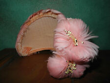 Vintage 1940's Pink Feathers Fascinator Hat