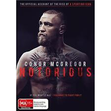 CONNOR McGREGOR NOTORIOUS, DVD, NEW & SEALED, 2017 RELEASE, REGION 4, FREE POST
