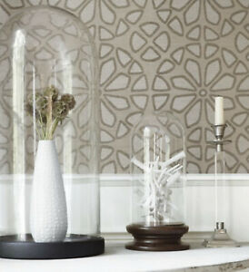1 DblRl THIBAUT T41157 ZAGORA Sisal Grasscloth Light Taupe Wallpaper $435 Retail