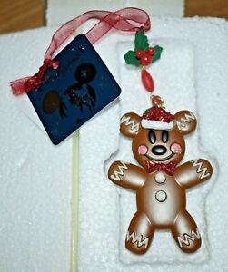 Disney Store Disneyland Mickey Mouse Gingerbread Man Hanging Ornament Christmas