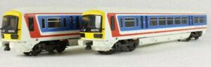 """Hornby R2001 Network SouthEast Class 466 """"Networker"""" 2 car EMU."""