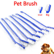 1Pcs dual end cat dog puppy toothbrush dental grooming tooth brush