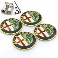 60mm 2.36in Tire Wheel Center Caps Hub Caps Clip ALFA ROMEO Multicolor//Silver