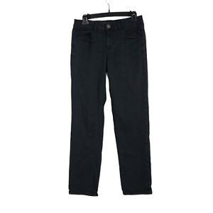 American Eagle Womens Tomgirl Jeans Size 29* Low Rise Super Stretch Black Denim