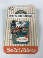 DISNEY 2020 EPCOT FLOWER AND GARDEN FESTIVAL MICKEY MOUSE LR HOME GROWN PIN NIH