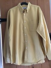 Marks & Spencer Size L Light Gold Button Down Collar Long Sleeve Cotton Shirt