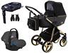 Adamex Reggio Special Edition stroller pram puschair 4in1 car seat isofix base