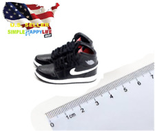 "1/6 male BLACK sneakers basketball AJ shoes 12"" hot toys phicen enterbay ❶USA❶"