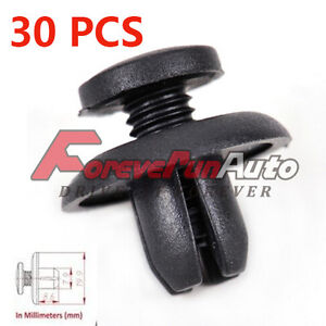 30 Pcs Bumper Fender Hood Splash Shield Protector Retainer Clip For Honda Acura