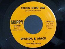 Texas Hillbilly WANDA & MACK Coon Dog Jim / I'm To Blame SKIPPY 122 NM/NM-