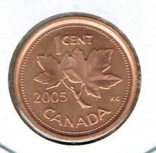 2005 Canadian Brilliant Uncirculated  One Cent Elizabeth II Coin!