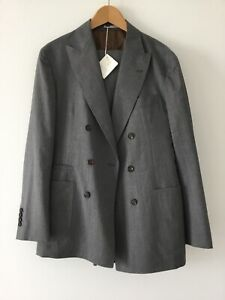 NWT $4995  Brunello Cucinelli wool double breasted suit size 48
