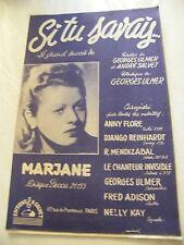 Partitura Si talla única sabía Marjane Music Sheet