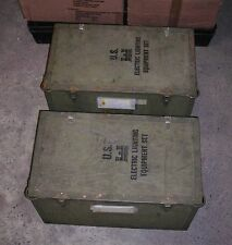 RARE US ARMY ELECTRIC LIGHTING EQUIPMENT SET WATERPROOF COMPLET BOX 1+2 NOS !!!