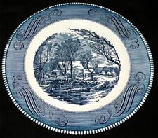 "Currier & Ives Royal China Ironstone 10"" Dinner Plate USA"