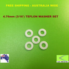 "Quality 5 pcs Teflon Prop Shaft Washers for 4.76mm(3/16"") Shaft for RC Boat"