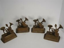 VINTAGE CASTILIAN IMPORTS 93362 BRASS MUSICAL INSTRUMENTS SET OF 2 BOOKENDS