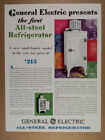 1929 GE General Electric Monitor Top All-Steel Refrigerator vintage print Ad photo