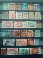Memel 1920-1923 Freimarken gestempelt