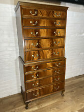 More details for flamed mahogany chest on chest of drawers . delivery available most area