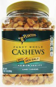 Planters Jumbo Whole Cashews w/ Sea Salt  2lbs 1oz Fancy Cashew Nuts ~ Premium