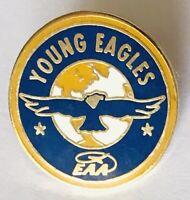 EAA Young Eagles Oshkosh Flight Training Pin Badge Rare Vintage (G7)