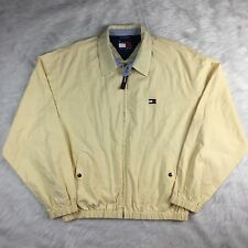 Men's Vintage TOMMY HILFIGER Yellow Full Zip Windbreaker Jacket Size Medium B13