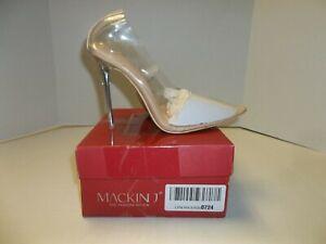 Womens Size Mackin J Clear Transparent Heels/Pumps
