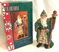 "Traditions Collectible Santa Claus St. Nicholas Figurine Matte Finish 8"" NIB"