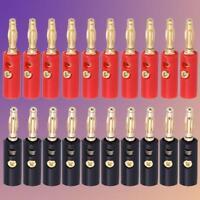 10 X 4mm lot Vergolt Audio Lautsprecher Kabel Bananenstecker-Adapter