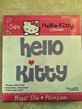 Sizzix Hello Kitty Bigz Die Phrase Retired, RARE! 655804 NEW